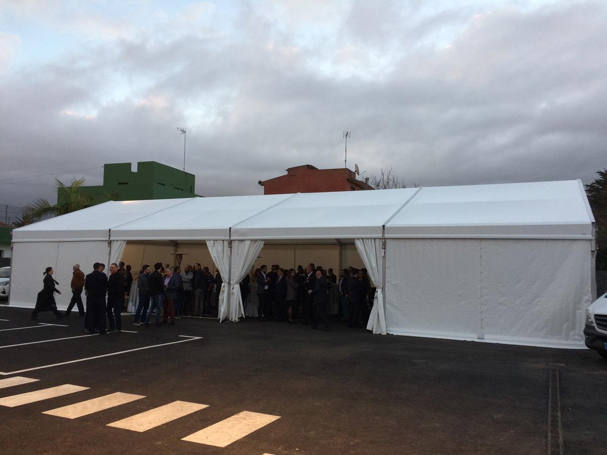 inauguración evento Carpas Expandi Canarias