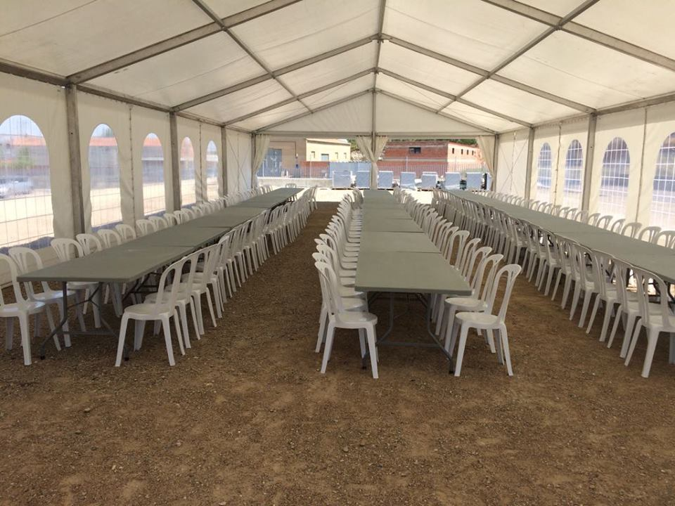 instalación alquiler carpas para eventos en Zaragoza