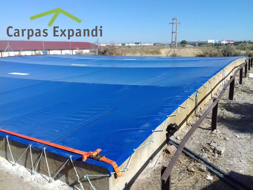 fabricación cubiertas balsas agua Zaragoza