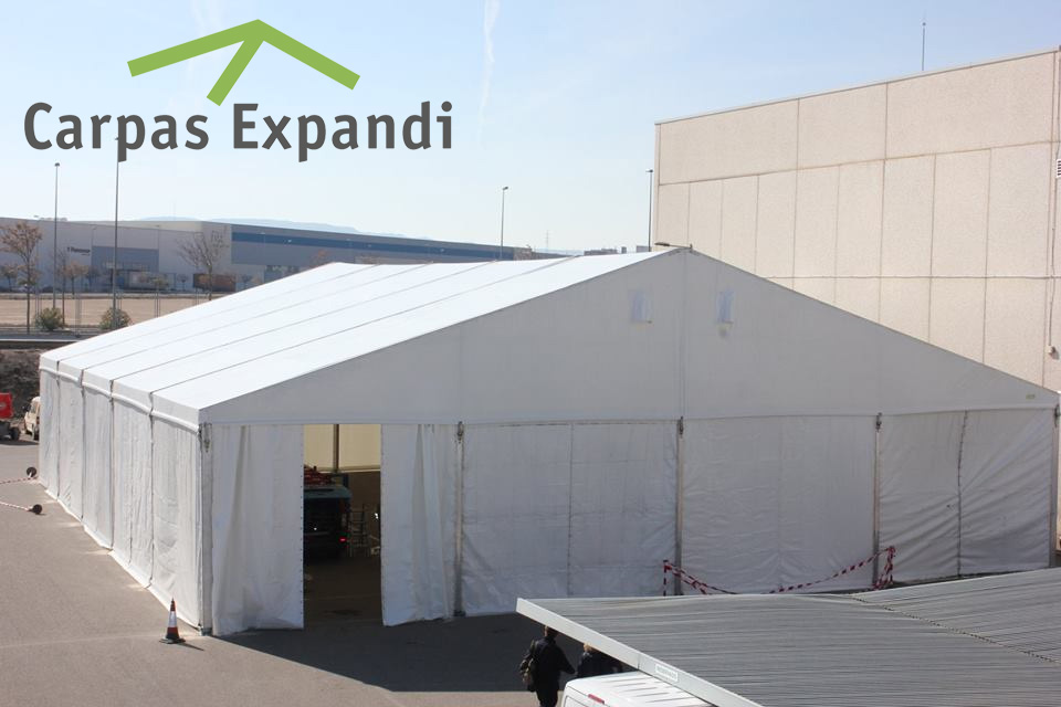 instalación carpas espacio logístico CARPAS EXPANDI Zaragoza